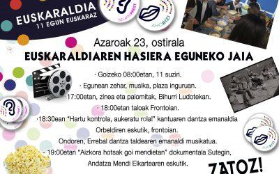 Azaroak 23 – Euskaraldiaren hasiera eguneko jaia!
